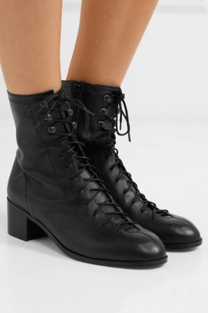BY FAR   Bota leather ankle boots   NET-A-PORTER.COM