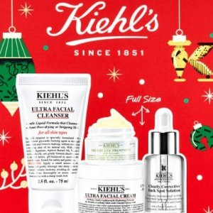变相5.8折起 €76收封面4件套Kiehl's 科颜氏 多款套装闪促!牛油果眼霜、淡斑精华送礼优选