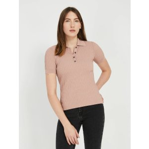 Frank And OakShort-Sleeved Sweater Polo in Cafe au lait