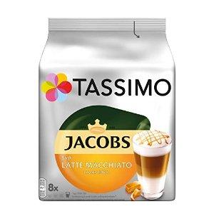原价24.95欧 折后仅18.99欧 早晨来一杯香浓的咖啡唤醒你的思绪Tassimo 拿铁玛奇朵焦糖咖啡胶囊40粒装 特价76折 比超市划算很多
