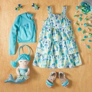 低至4折+包邮 草帽$15Gymboree 女童凉鞋、配饰 妞妞们的名媛范儿 收美人鱼、草莓包