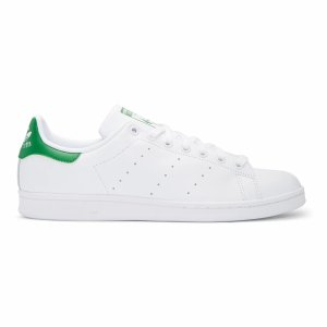 new concept 26a25 81ca1 White  Green Stan Smith Sneakers