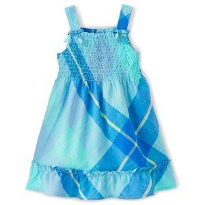Gymboree格子罩衫式连衣裙