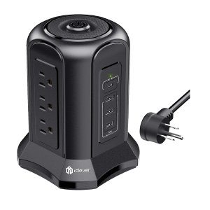 iClever Power Strip Tower Surge Protector
