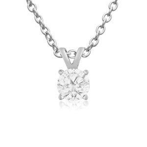 $99.97 (原价$799.9)独家:SuperJeweler 精选1/4克拉钻石项链促销