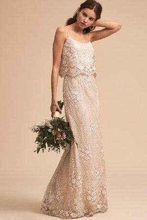 Arden Dress Ivory/Nude  in  Bride | BHLDN