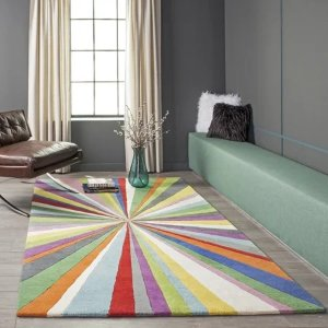 Mica: contemporary Striped runner Area Rug