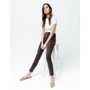 RSQ Exposed Button Manhattan High Rise Womens Skinny Jeans