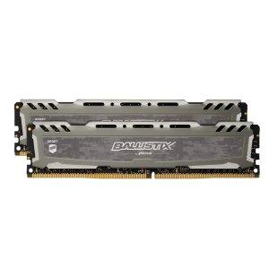 $65.98Ballistix Sport LT 16GB(8GBx2) DDR4 2666 台式机内存