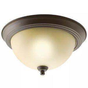 Kichler 8108OZ Olde Bronze 2 Light Flush Mount Indoor Ceiling Fixture