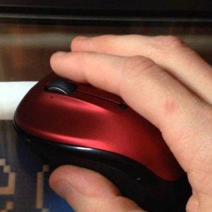 14.99(原价$39.99)Logitech M325 红色无线鼠标  物美价廉