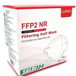 2.7折!€7.99收20枚SALDI24 FFP2 口罩好价 5层过滤系统 欧盟认证 防疫妥妥的