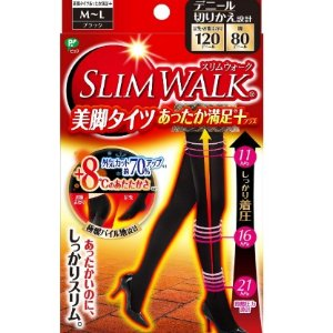 限时额外8折 $6.5/RMB45.3日亚黑五抢购 SLIM WALK 美脚瘦腿 发热袜 黑色升级版 特价