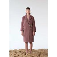 Dealmoon Carmen Wool Coat - Dusty Rose
