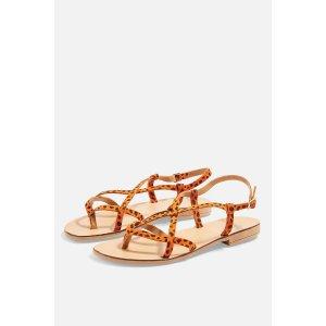 Topshop橘色凉鞋
