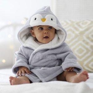 低至5折+额外最高8折My 1st Years 婴幼儿用品黑五大促销 封面企鹅浴袍$24收