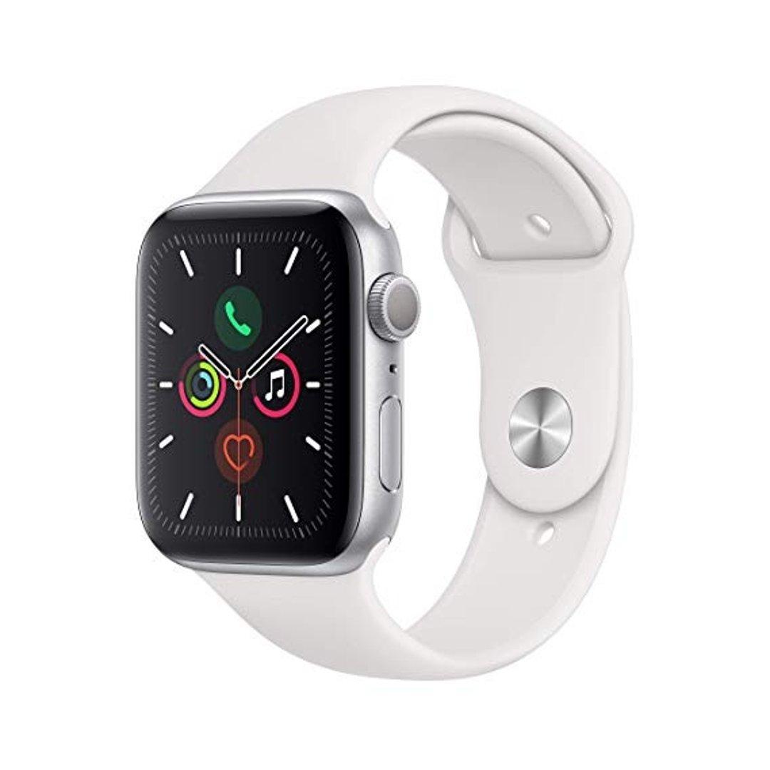 Apple 5系手表 银色铝合金表盘+运动型表带 44mm