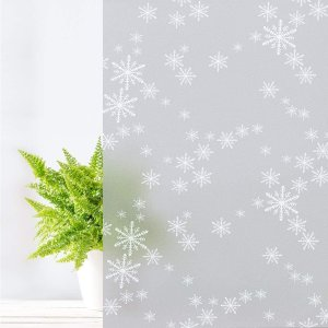 $5.99Coavas Window Film Snowflake Frosted Glass Film Self-Adhesive Opaque Privacy Protection Film Glass Sticker
