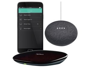 $124Logitech Harmony Home Hub and Google Home Mini Assistant
