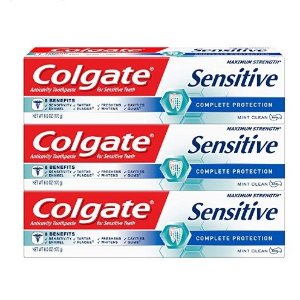 $8.93Colgate Sensitive Toothpaste Complete Protection Mint 3 Pack