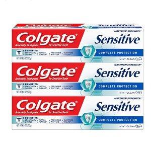 $9.54 包邮Colgate 敏感专用美白牙膏 薄荷味 6oz  3个装 多款可选