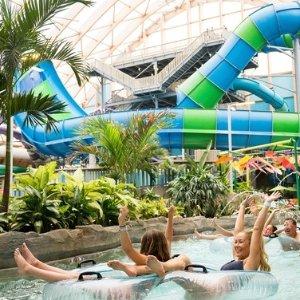 $120/晚起 纽约最大的室内水上乐园纽约州 Kartrite 度假村+室内水上乐园 套房可入住4人