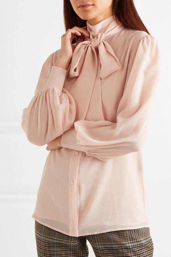 Pussy-bow 丝质衬衣