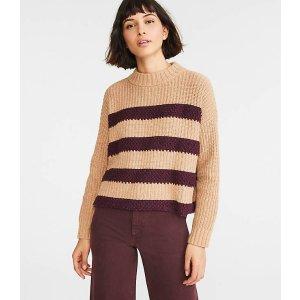 LOU & GREYLoopy Striped Sweater