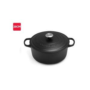 Le Creuset铸铁锅 28 cm (Satin Black)   Casserole Pans  
