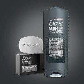 $2.84(原价$5.99)Dove  Men +Care男士保湿身体脸部清洁 2合1沐浴露
