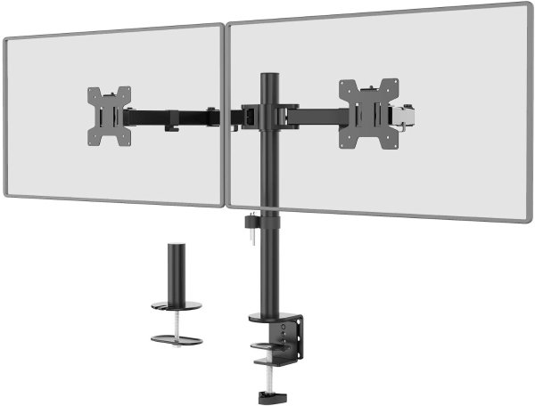 通用双显示器支架 最高支持27吋显示器