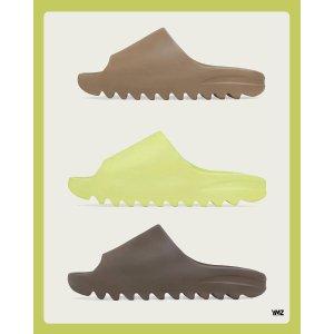 9月6日上线 €35起 全家族尺码Yeezy 九月发售预告   Slide拖鞋3色抽签开启 新增青草绿