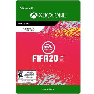 $29.99 (原价$59.99)《FIFA 20》Xbox One 数字版
