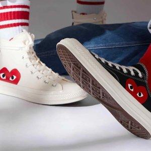 售价€140CDG Play x Converse 经典联乘 Chuck 70 系列鞋款重新补货