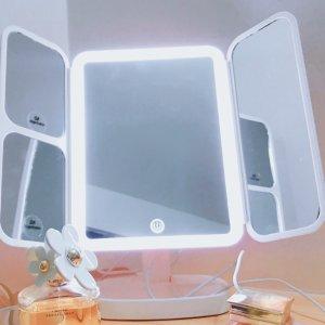 $17.5(原价$24.99)Easehold LED化妆镜7折,无极调光 前后90度 左右180度旋转 多色可选
