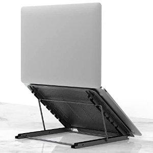 Laptop Tablet Stand, Foldable Portable Ventilated Desktop Laptop Holder