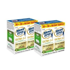 $41Move Free Ultra 2in1 with Comfort Max Joint Health Support  60 Ct 2 Pack @  Walmart
