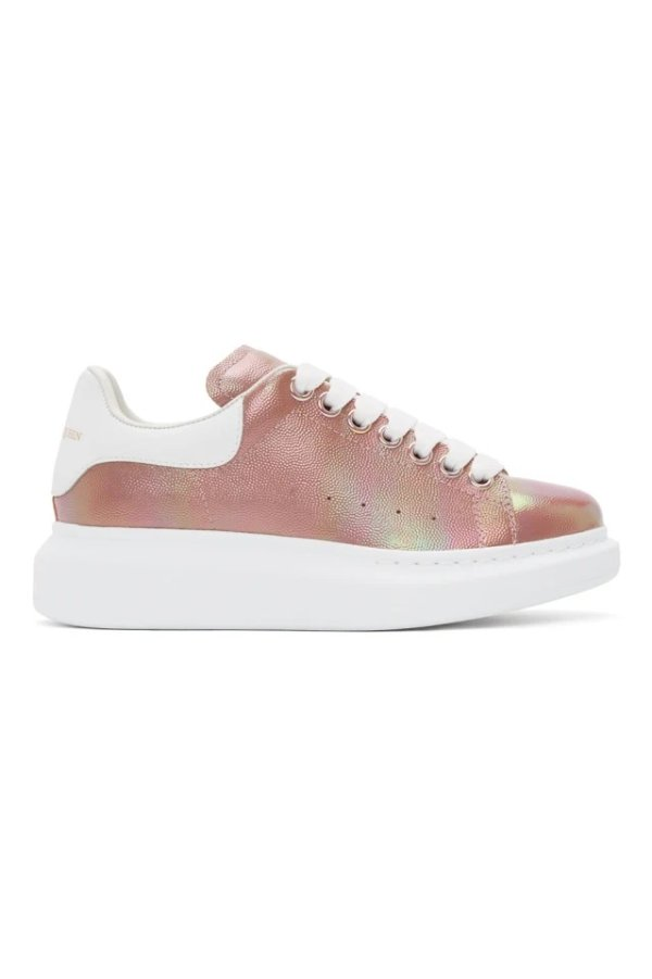 玫瑰金人鱼姬色厚底鞋