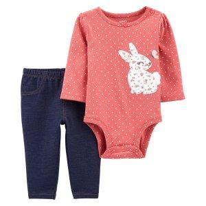 Carter's婴儿小兔2件套