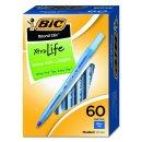 $3.26 BIC Round Stic Xtra Life Ball Pen, Medium Point (1.0 mm), Black, 60-Count