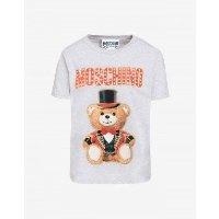 Moschino 小熊灰色短袖