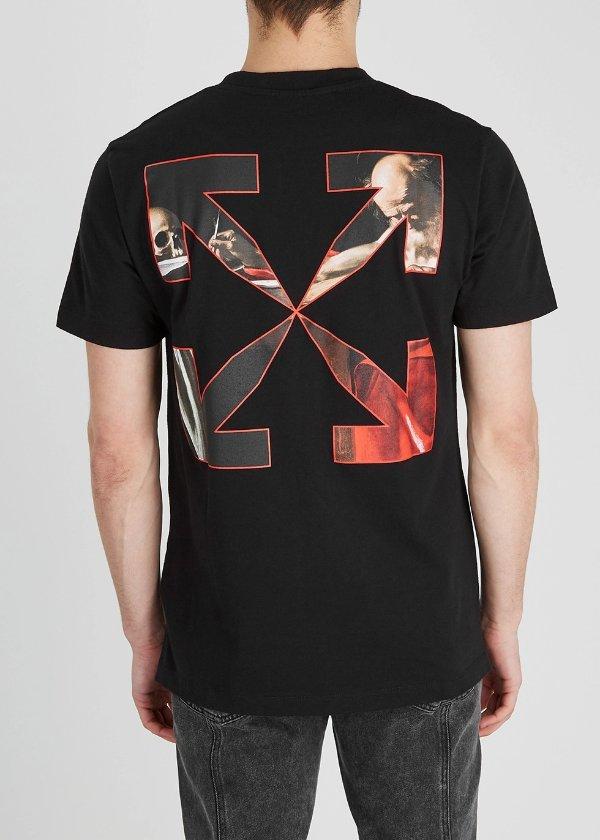 Caravaggio 印花箭头T恤