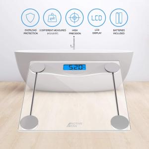折后€19.99 原价€29.99Active Era 体重秤 精确度0.1kg 180kg承重 LED显示屏 自动开关