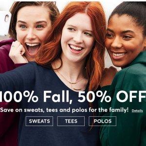 50% OffFall Styles @ Hanes.com