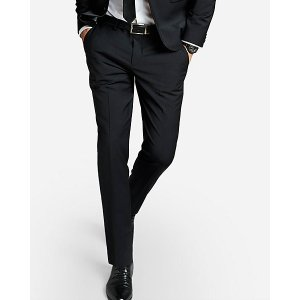 Express$100 Off suitExtra Slim Black Performance Stretch Wool-blend Suit Pant
