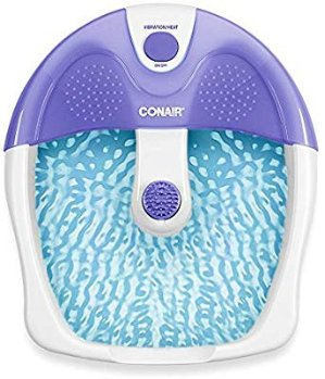 Conair Foot & Pedicure Spa with Vibration and Heat, Purple and White