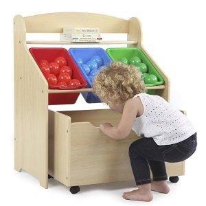 低至$7.96+包邮Tot Tutors 儿童玩具收纳架、家具特卖