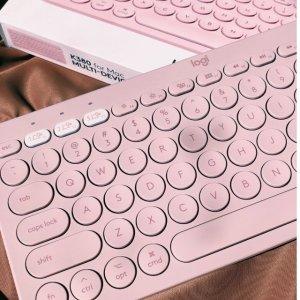 $49.99(原价$53.99)Logitech K380 玫瑰金 多设备蓝牙键盘
