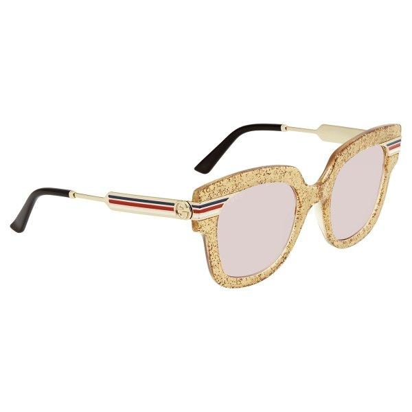 金粉方框猫眼墨镜