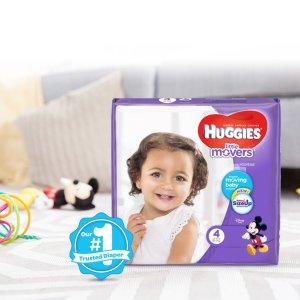 $29.28(原价$39.99)HUGGIES 好奇宝宝纸尿裤,Disney 联名款,152片装,多码